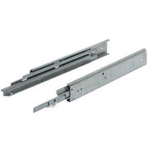 Rolgeleider, volledig uittrekbaar, draagvermogen tot 68 kg, roestvast staal, opliggende montage
