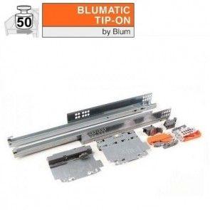 Blum Tandem Plus 566H Blumatic Tip-on - 450 t/m 750 mm - volledig uittrekbaar - max 50 kg - productafbeelding - 566H-C01+Tipon