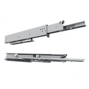 Softclose Rol ladegeleider- inbouwlengte 400 - 1000 mm - volledig uittrekbaar - max 180 Kg - staal verzinkt