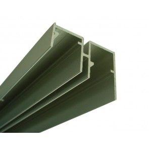 Aluminium onderrail lengte 3m