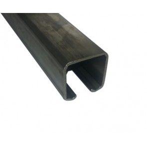 Compleet RVS ophangsysteem schuifdeur max 100 cm WANDmontage rail