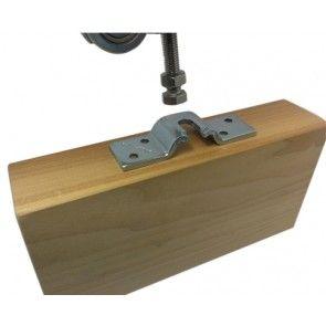 bevestigingsplaat schuifdeur om deur en roller met elkaar te verbinden