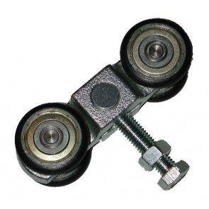 Dubbele hangrol - bout M8 - max 100 Kg - lownoise