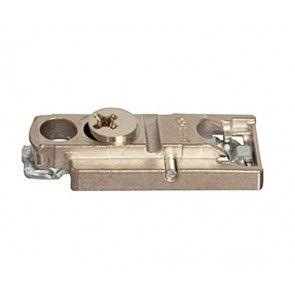 Rechte montageplaat - 3 mm - montage met schroef dikte 3,5 mm