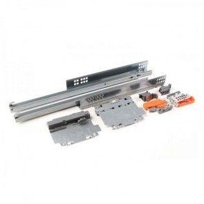 Blum Tandem Plus 566H.C Tip on (druk open) ladegeleider - kogelgelagerd - inbouwlengte 450 t/m 750 mm - volledig uittrekbaar - max 50 Kg - staal verzinkt