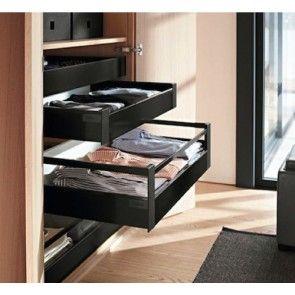 Blum Antaro Blumotion - Binnenlade K/Reling D - hoogte 224mm - 30kg - Terrazwart