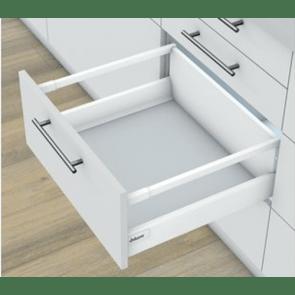 Blum Antaro Blumotion - Voorraadlade M/Reling D - hoogte 224mm - 30kg - Zijdewit