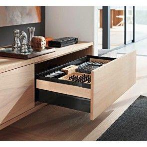 Blum Antaro Blumotion - Voorraadlade M/Reling C - hoogte 192mm - 65kg - Terrazwart