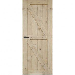Cabana Roble houten paneeldeur - onbehandeld rustiek eiken fineer - haaksprofiel -  max 2015 tot 2315 mm
