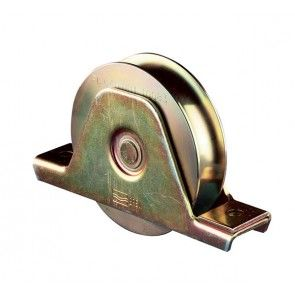 Wiel met u-groef staal verzinkt Max belasting 640 kg per stuk
