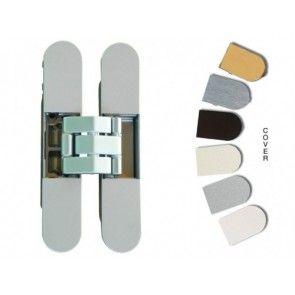 Onzichtbaar dranger deurscharnier -DIN L+R -Nickel Satin deurgewicht 60 Kg