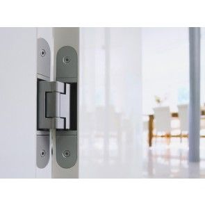 RVS verdekt deurscharnier met 2 scharnieren 100 Kg belastbaar