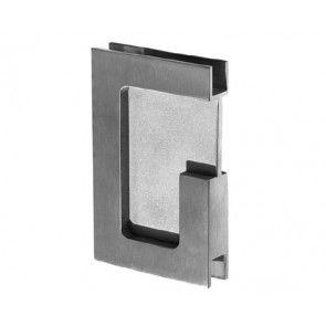 Schuifdeurgreep GLAS rechthoekig - dikte 10 mm mat RVS voor schuifdeuren IN de wand