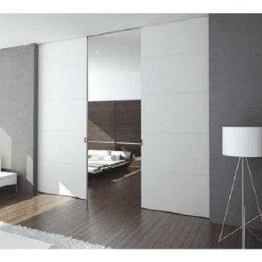 X5D schuifdeursysteem 301 x 2x153 cm PURE dubbele deur Profiel 75mm - wanddikte 125mm