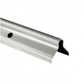 Onderrail U-profiel L=300 cm RVS - schuifdeurbeslag voor buitendeuren - Voor montage ingemetseld in de vloer