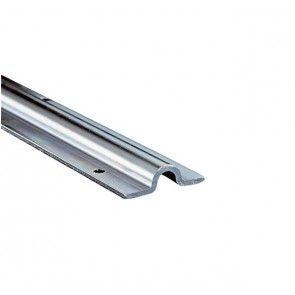Onderrail U-profiel L=300 cm RVS Voor montage vastgeschroefd op de vloer