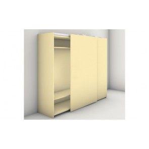 Gelijkliggend schuifdeursysteem garderobekasten tot 3.000 mm hoog