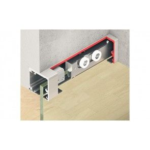 Schuifdeursysteem Pro in plafond -Glas 120kg -  systeem 2600