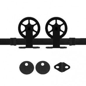 Suuri ophangset - zwart staal verzinkt - max 125 Kg - met 2 anti-jump producten en 1 vloergeleider inbegrepen