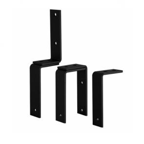 Plafond / wandbeugel t.b.v. dubbele deuren - zwart staal