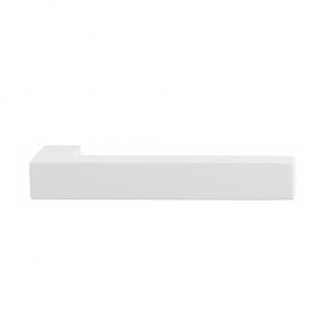 Set deurkrukken ZAKI - wit RVS - L-haaks - vierk