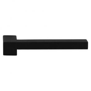 Set deurkrukken RAA - zwart RVS - L-haaks