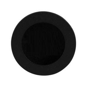 Ronde schuifdeurkom - zwart RVS - in diameter 40 mm tot 65 mm