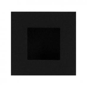 Vierkante schuifdeurkom - zwart RVS - 30 x 30 mm tot 90 x 90 mm