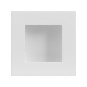 Vierkante schuifdeurkom - wit RVS - 30 x 30 mm tot 90 x 90 mm