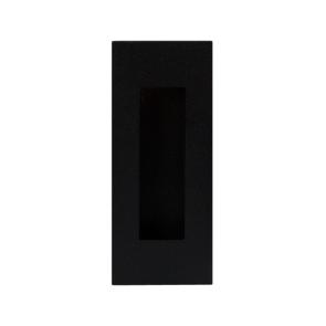 Rechthoekige schuifdeurkom - zwart RVS - 120 mm tot 180 mm hoog