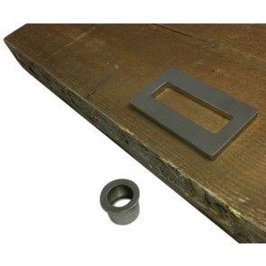 Didheya schuifdeurgreep rechthoekig - Universeel voor houten of glazen schuifdeur