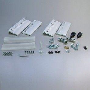Ophangset systeem 1700 glas met demping naar één kant - deurgewicht max 80 kg - deuren vanaf 61,9cm breed