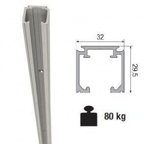 Aluminium schuifdeurrail 600 cm - max 80 Kg/meter