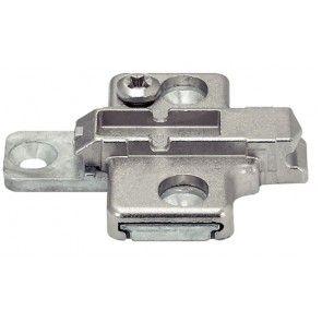 Kruis montageplaat - 3 mm - montage met schroef dikte 3,5 mm