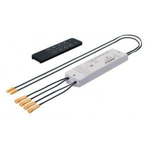 LED 4 kanaals RF stuureenheid - Met zender - onafhankelijk dimmen en schakelen (basis set)