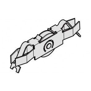 Loopwagen - inschuifbaar in glasdeurprofiel  - 2 per schuifdeur nodig