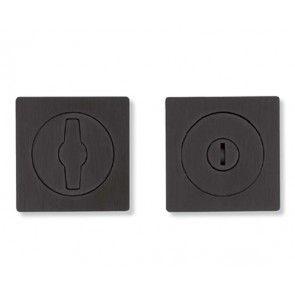 Omporro 590AC - Zwart nikkel Vrij/Bezet garnituur voor houten (schuif) deuren