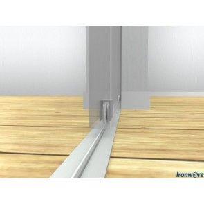 Voorbeeld set onderlopend schuifdeur systeem 318/P - tot 160 Kg deurgewicht
