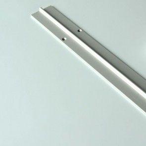 Schuifdeur onder / vloer rail - geanodiseerd aluminium - lengte 600 cm - breed 4,15 cm - dik 0,27 cm