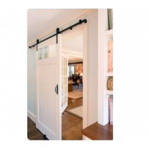 Boeren schuifdeurbeslag MONO Black enkele deur voor deurbreedtes van 103 cm tot en met 250 cm