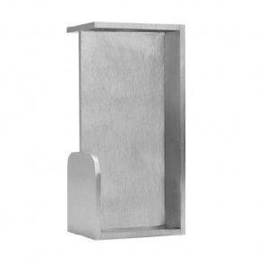 Rechthoekige inbouw schuifdeurgreep -  RVS 304 -  Lengte 101 x Breedte 50 x Deurdikte 40 mm