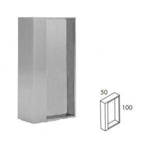 Rechthoekige inbouw schuifdeurgreep -  RVS 304 -  Lengte 101 x Breedte 50 x Deurdikte 38 & 40 mm