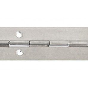 Pianoscharnier aluminium blank om te schroeven