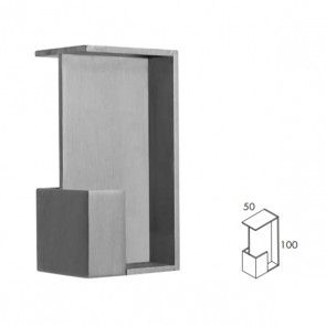 Rechthoekige inbouw schuifdeurgreep -  RVS 304 -  Lengte 101 x Breedte 50 x Deurdikte 40 mm PEH36 408IN40