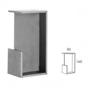 Rechthoekige inbouw schuifdeurgreep -  RVS 304 -  Lengte 160 x Breedte 85 x Deurdikte 40 mm PEH36 414IN40