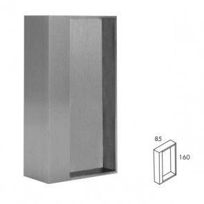 Rechthoekige inbouw schuifdeurgreep -  RVS 304 -  Lengte 160 x Breedte 85 x Deurdikte 40 mm PEH36 424IN40