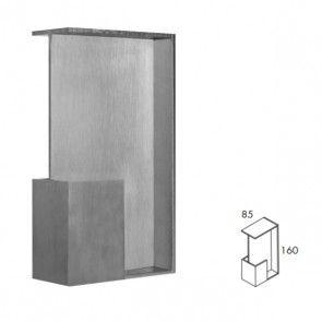 Rechthoekige inbouw schuifdeurgreep -  RVS 304 -  Lengte 160 x Breedte 85 x Deurdikte 40 mm PEH36 430IN