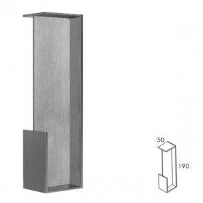 Rechthoekige inbouw schuifdeurgreep -  RVS 304 -  Lengte 190 x Breedte 50 x Deurdikte 40 mm PEH36 480IN40