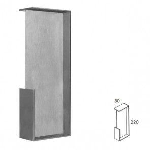 Rechthoekige inbouw schuifdeurgreep -  RVS 304 -  Lengte 220 x Breedte 80 x Deurdikte 40 mm PEH36 482IN40