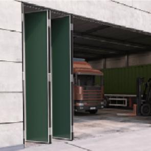 Voorbeeldset - Vouwdeursysteem buitendeuren - ROB 120.000 - 5 panelen - max 35kg per paneel